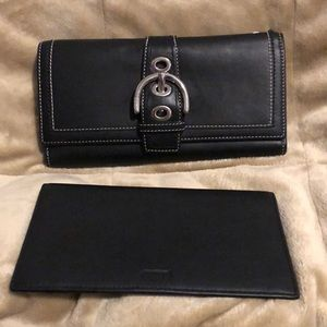 Coach full size wallet plus a check book sleeve